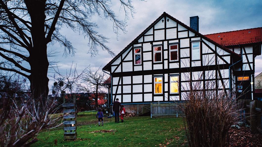 Das Pfarrhaus in dem Annette Lapp mit ihrer Familie lebt