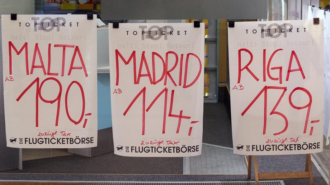 Billigflüge nach Malta, Madrid, Riga