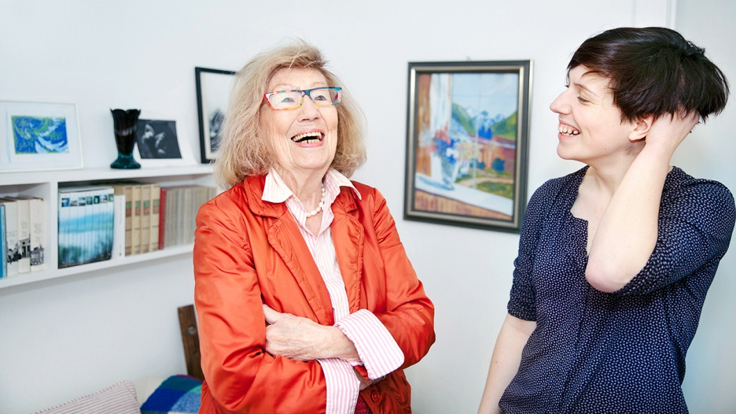 Maie B. und Enkelin Nicola Iversen
