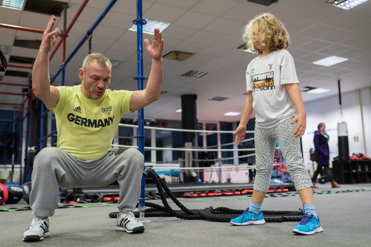 Annika im Gym mit Jürgen Grabosch