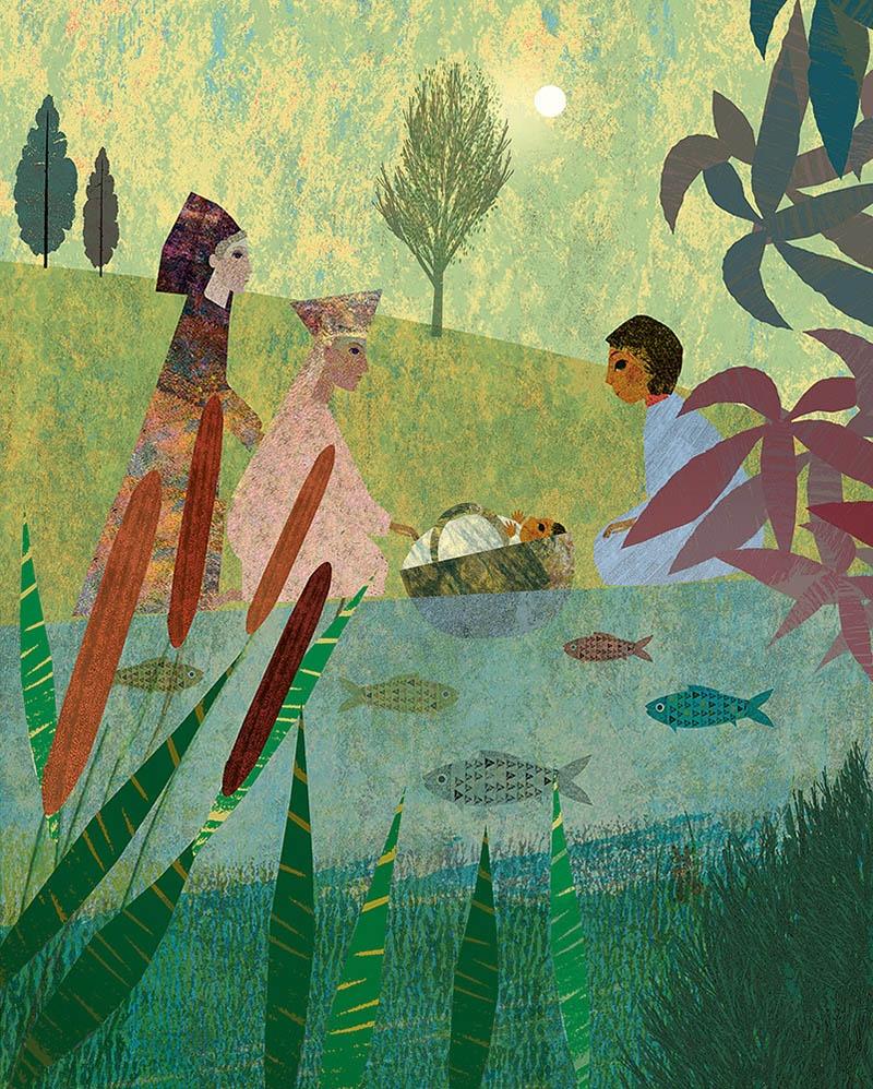 Illustration aus der neuen Kinderbibel von Britta Teckentrup