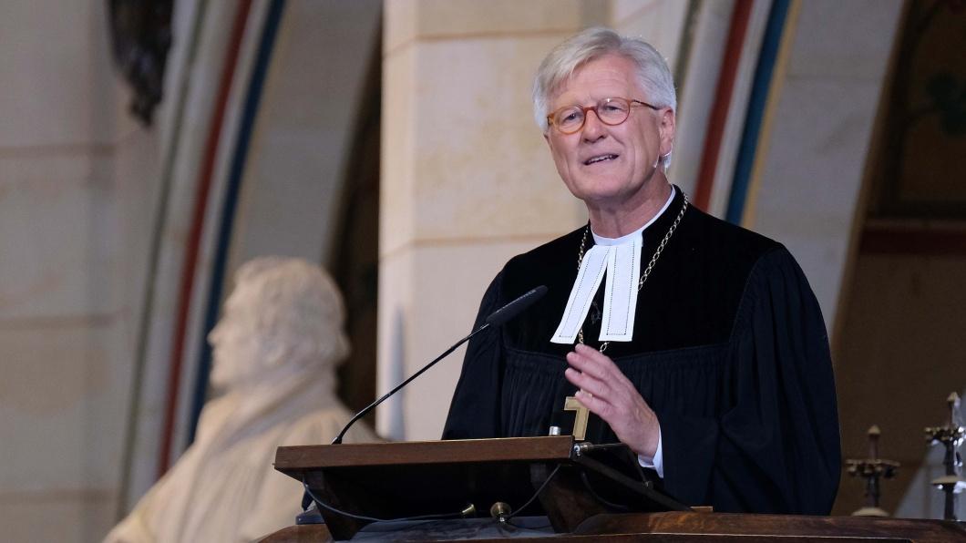 Heinrich Bedford-Strohm am 31. Oktober 2017 in der Wittenberger Schlosskirche