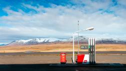 Tankstelle in der Landschaft