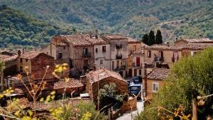 Stadtansicht Gangi in Sizilien
