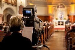 Fernsehkamera des ZDF