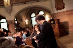 Pfarrer Dr. Ralf Günther im Gespräch mit Pfarrerin Antje Siebert