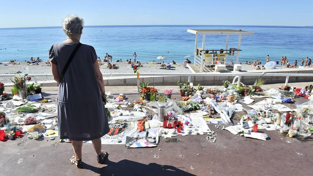 Gedenken an die Opfer des Terroranschlags auf der promenade des anglais in Nizza am 7. August 2016