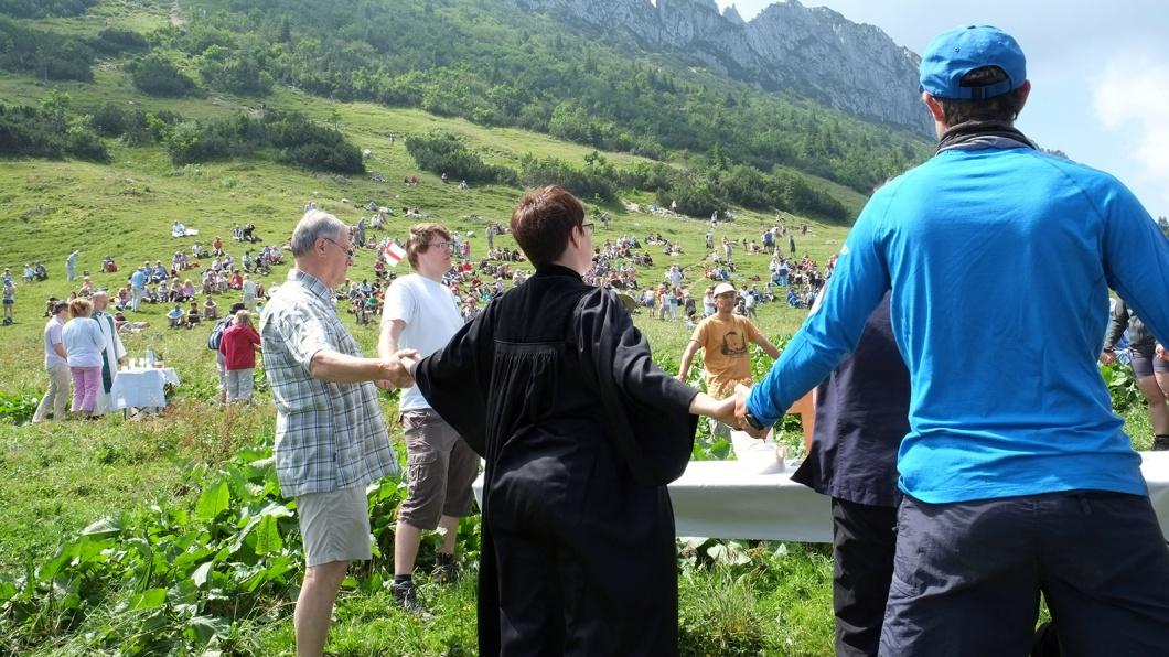 Freiluftgottesdienst in den Chiemgauer Alpen