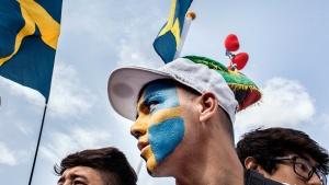 Flüchtlinge demonstrieren in Stockholm im letzten Sommer gegen die schwedische Abschiebepolitik