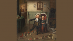 Pfarrerskinder spielen Kirchgang