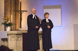 Regionalbischöfin Susanne Breit-Keßler und Pfarrer Martin Vorländer