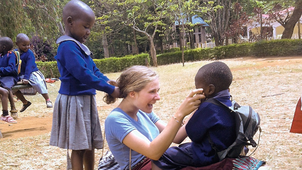 Elisabeth Siegel in einem der Kindergärten