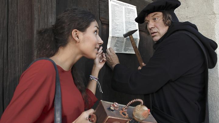 Amy Mußul, Moderatorin aus der Schnitzeljagd trifft Martin Luther