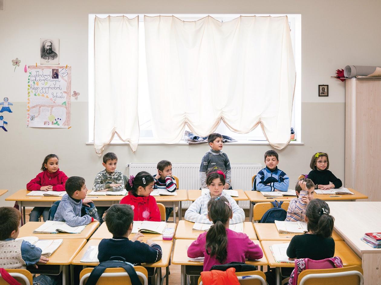 Schule in Tiflis, Georgien