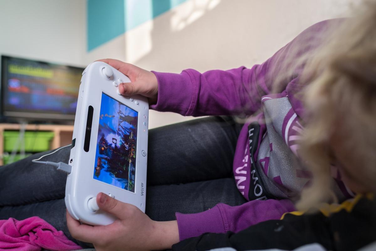 Annika mit Wii