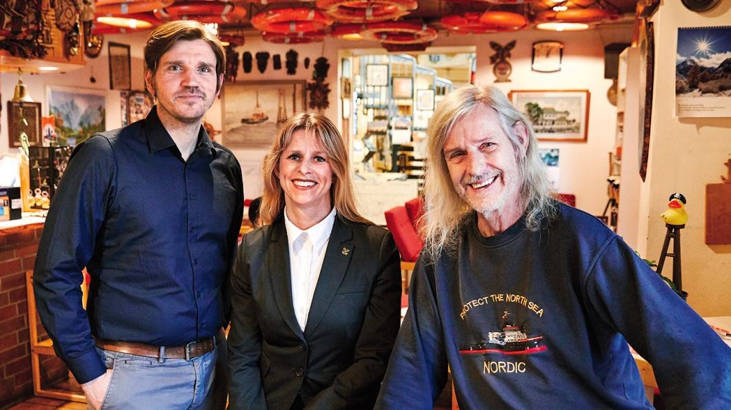 Die drei Gastgeberprofis Jan Oltmanns, Kathrin Beulshausen, Stefan Wehrheim