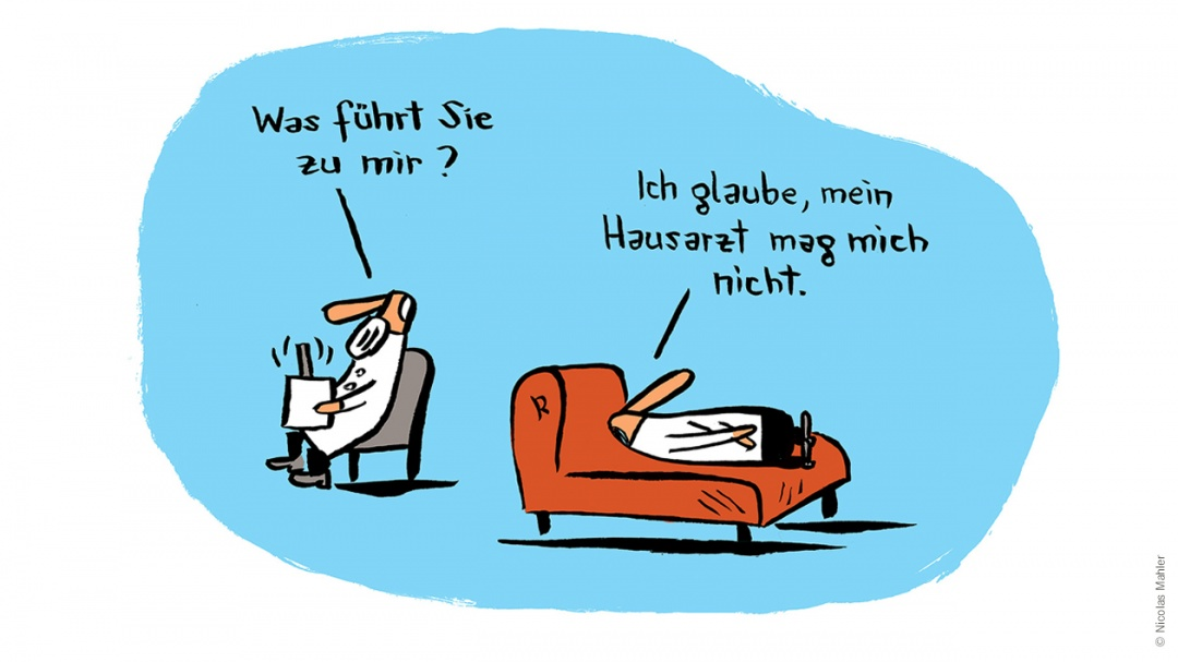 Arztgespräche Themenbild Nicolas Mahler neu