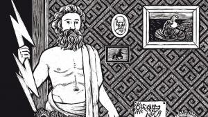 Illustration aus der Rubrik Paargespräche, Zeus&Hera