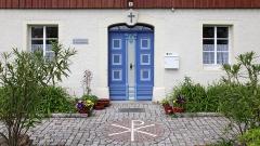 Pfarrhaus von Mulda an der Freiberger Mulde im Erzgebirge.