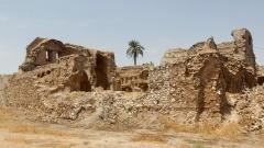 Die zerstörte katholische Kathedrale Em Al Ahzan im Irak, dessen Territorium zu den frühesten Siedlungsgebieten der Christen gehört.