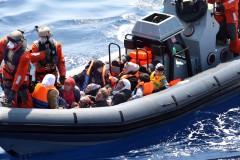 Im Mittelmeer gerettete Boat-People