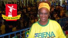 Nanci Rosa aus Rio de Janeiro kämpft während der WM gegen Rassismus