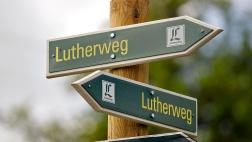 Der Lutherweg auf der Wartburg in Eisenach.