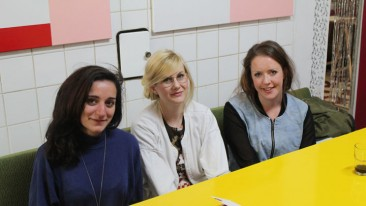 "Die Organisatorinnen des Projekts ""Give Something Back To Berlin"": Alessia, Annamaria und Lucy."