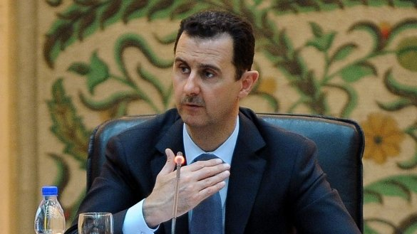 Bashar Assad meeting with the new Syrian government in Damascus