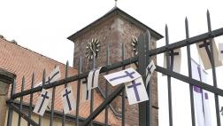 Turm der evangelischen Kirche in Herxheim am Berg