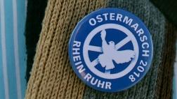 Beim Rhein-Ruhr Ostermarsch wurde mit einem Fahrradcorso für ein Abrüsten statt Aufrüsten demonstriert.