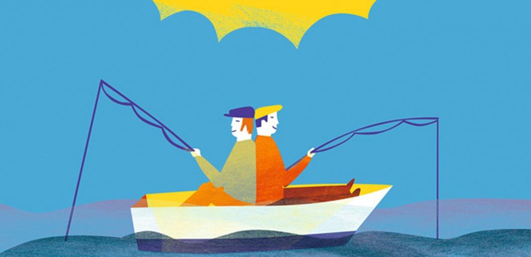 Freunde im Boot