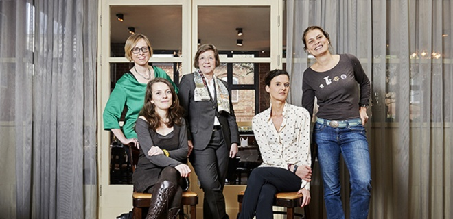 """Das Jury-Team in Sarah Wieners Restaurant """"Speisezimmer"""""""