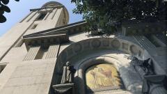 Fassade der Deutschen Evangelischen Gemeinde in Kairo