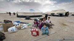 Flüchtlinge aus Syrien kurz nach ihrer Ankunft im Lager Za'atari in Jordanien
