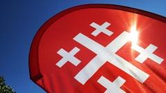 Kirchentagssegel beim evangelischen Kirchentag in Stuttgart am 05.06.15.