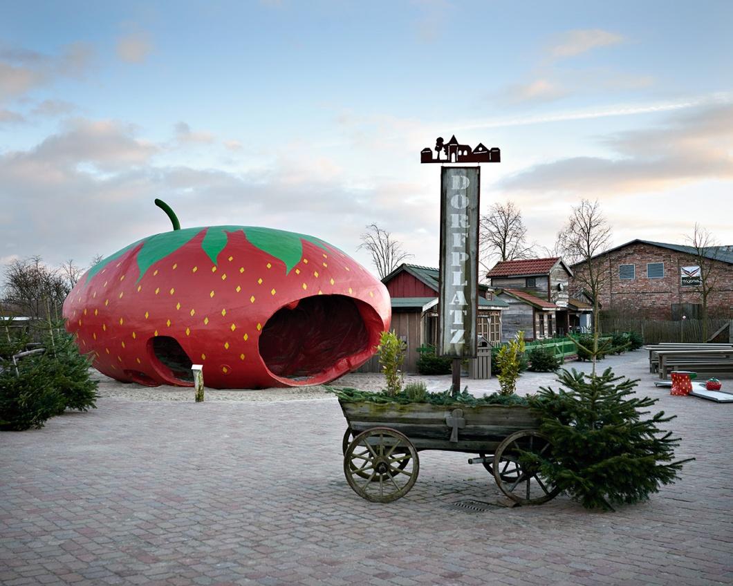 Erdbeer-Ufo
