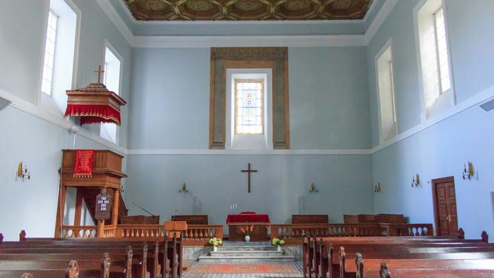 Innenraum der evangelisch-lutherischen Kirche in Vilnius