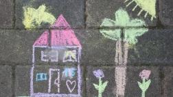 Kreidebild auf der Straße
