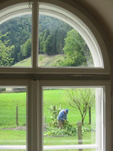 Rundfenster der Ev. Pfarrkirche in Nasswald