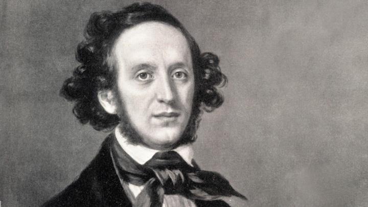 Porträt des deutschen Komponisten Felix Mendelssohn Bartholdy.