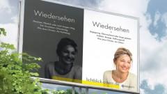 """Plakat mit der Aufschrift """"Wiedersehen"""""""