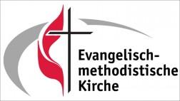 Das Logo der EmK zeigt ein Kreuz für Christus und eine Flamme für den Heiligen Geist.