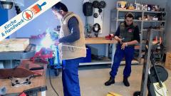 Flüchtlinge lernen Handwerk