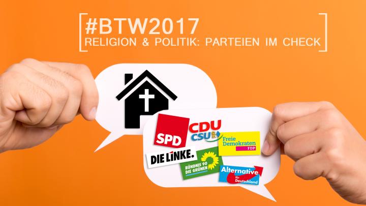 Interviews mit den religionspolitischen Sprechern der Parteien zur Bundestagswahl 2017.