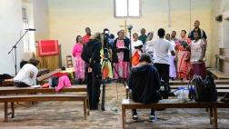 Der Cantate-Stadtchor probt in der Kirche
