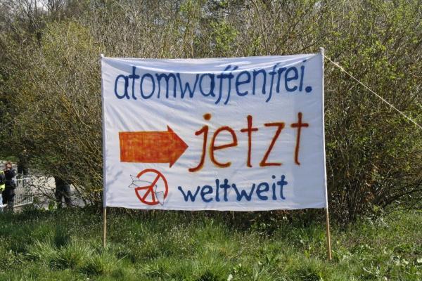 Protest gegen Atomwaffen in Büchel