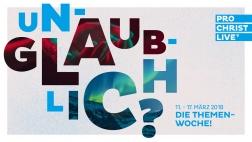 """In rund 500 Orten in Deutschland, Österreich, der Schweiz und Nachbarländern wird vom 11. bis zum 17. März die Evangelisationsveranstaltung """"ProChrist live"""" übertragen."""