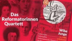 Spielkarte mit Wibe Junge aus dem Reformatorinnen-Quartett der Nordkirche.
