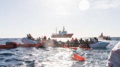 Flüchtlinge im Mittelmeer geborgen